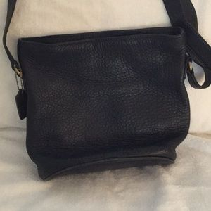 Vintage Coach Black Bucket Bag